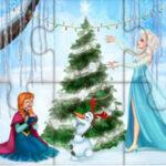 Puzzles Frozen à Noël
