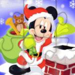 Puzzles de Mickey Mouse à Noël