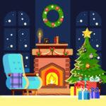 Recherchez 5 différences dans Noël