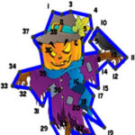 Points Numérotés à Halloween