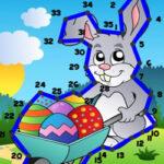 Relier des Points avec des Chiffres à Pâques