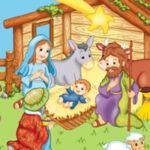 Scène de la naissance de Jésus