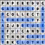 Soupe des lettres de Recyclage en anglais