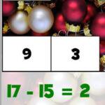 Soustractions à Noël (jusqu'à 20)