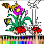 Coloriage de printemps
