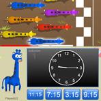 Donner l'heure sur une horloge analogique