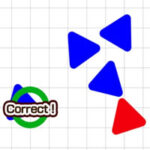 Triangle de couleur différente