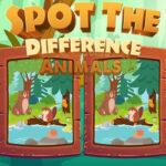 Trouvez 7 Différences entre les dessins d'animaux
