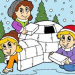 Coloriage des dessins d'hiver