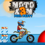 Moto X3M: fête de la piscine